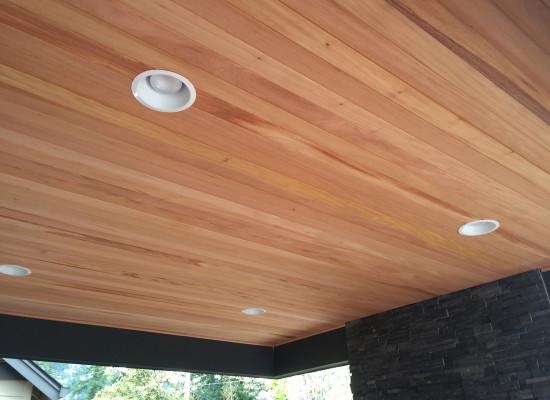 Mahogany Ceiling Deck