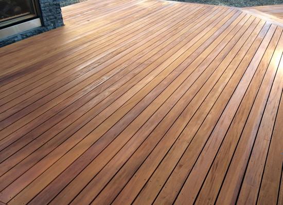 Finished Mahogany Deck